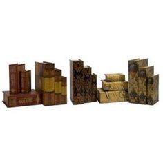 Cassiodorus Book Box Collection, Set Of Six Imax Boxes Decorative Boxes Home Decor