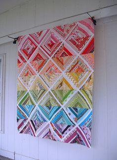 Scrappy String Quilt Top by jenniferworthen, via Flickr