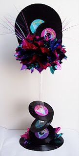 Vinyl record centerpiece