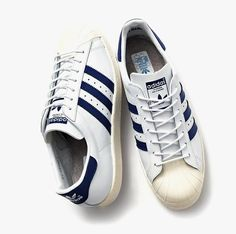 f51adeb0d46a Beauty   Youth x adidas Originals Superstar  80s Navy Classic Sneakers