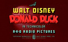✶ A Walt Disney Donald Duck Movie ★
