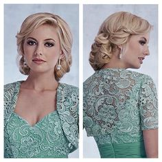 Glamorous and Classic bridal hair and makeup option.