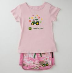 Girls Camo Skort and John Deere Tee Set Jayden needs this for when she goes to see her pawpaw craig
