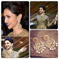 YankeeDesi.com - Deepika sizzles at IIFA awards in an all glittery outfit and stunning chandbalis ...