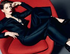 Anne Hathaway by Kai Z Feng for Elle UK October 2014