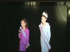 2009 National American Miss National Princess Personal Introduction Competition perfect 7 year old speaker