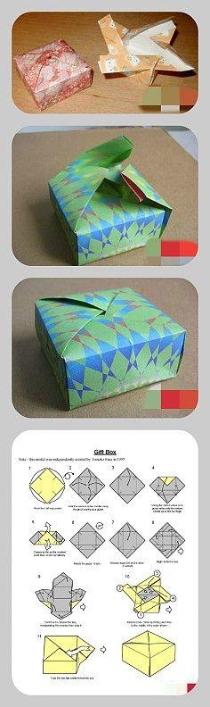 Caixa de presente quadrada