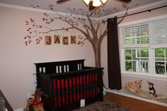 Such a cute nursery idea, I want the tree with the name for sure!