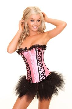 Elegant Gothic Pink Lace Up Corset-Corsets & Bustiers-Sexy Lingerie