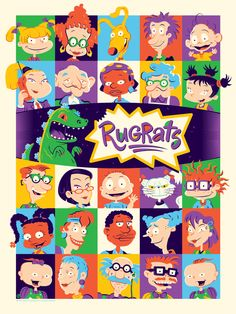 Rugrats Poster by Dave Perillo from Mondo (Onsale Info) - Dr Wong - Emporium of Tings. Cartoon Wallpaper, Iphone Wallpaper, Classic Cartoon Characters, Classic Cartoons, Cartoon Drawings, Cartoon Art, Rugrats Cartoon, Rugrats All Grown Up, Rocko's Modern Life