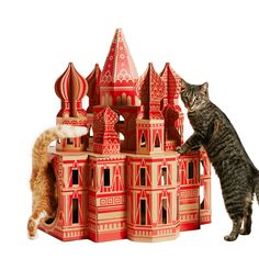 Cats hate whatever you buy them. Because they're hard-wired to be ungrateful. But as you can see from these cardboard landmark play houses, not even a cat can resist the chance to spend a night in the White House. Cardboard Cat House, Cardboard Playhouse, Cardboard Boxes, Dog Houses, Play Houses, Pet Furniture, Animal Projects, Animal House, Cat Toys