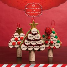Create these cute tree ornaments with the Sutter Home corks you've saved.