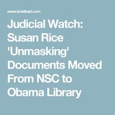 Judicial Watch: Susa