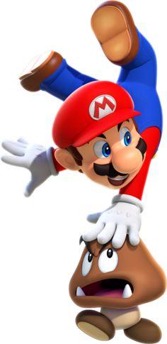 File:SMR Artwork - Mario and Goomba. Super Mario World, Super Mario Party, Super Mario Bros, Mundo Super Mario, Super Mario Kunst, Super Mario Birthday, Super Mario Brothers, Super Smash Bros, Mario Und Luigi
