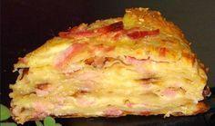 Очень быстрый пирог с сыром на кефире