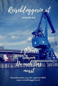 3 Gründe, warum Du nach Linz musst #streetart #muralharbor #linz #visitlinz #upperaustria You Are Awesome, Austria, Travel Inspiration, Dubai, Places To Go, Travelling, Country, Bucket, Linz