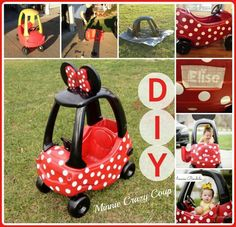 Cute Minnie mouse cozy coupe