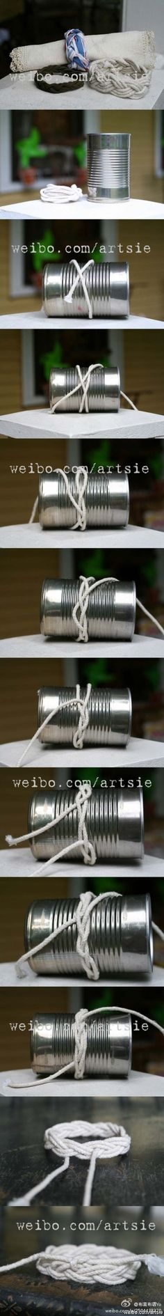 Using a nice tin can will help you with the bracelet process. All...