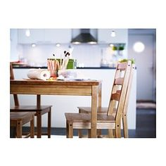 JOKKMOKK - IKEA. I love the look of this, and I'm pretty excited that it's a table and 4 chairs for $150