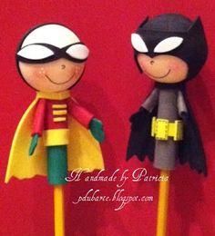 Handmade by Patricia: Fofulapiz Batman y Rovin
