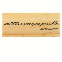 Biblical Scripture Rubber Stamp by Recollections™