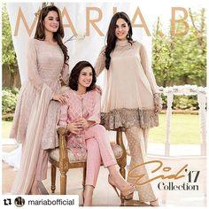 Maria B Eid Collection 2017 Stitched Dresses with Price Pakistani Fashion Party Wear, Pakistani Wedding Outfits, Pakistani Couture, Pakistani Dress Design, Pakistani Dresses, Indian Dresses, Indian Outfits, Indian Fashion, Eid Dresses 2017