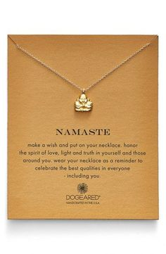 Dogeared 'Reminder - Namaste' Pendant Necklace | Nordstrom