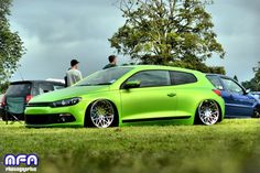 Scirocco Tuning, Vw Scirocco, Volkswagen Models, Volkswagen Polo, Custom Muscle Cars, Retro Style, Green Colors, Dream Cars, Golf