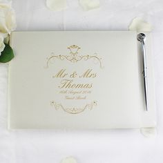PERSONALISED Luxury Guest Book & Pen