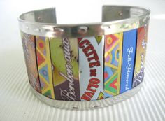 Bright Colors Mixed Tin Cuff Recycled Tin10th by eaststreettins, $44.00