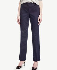 Ann Cotton Sateen Straight Leg Pants