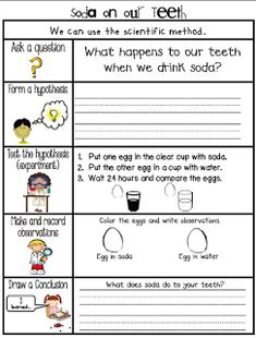 Sarah's First Grade Snippets: Dental Health Experiments, a Fun Math activity, a Mini unit and a Freebie Health Adults Health For Kids für Kinder unterrichten Dental Health Month, Health Class, Health Lessons, Science Lessons, Health Education, Science Fair, Oral Health, School Health, 3rd Grade Science Experiments