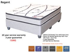 Regent Mattress + Base [High density foam mattress] Outlast technology