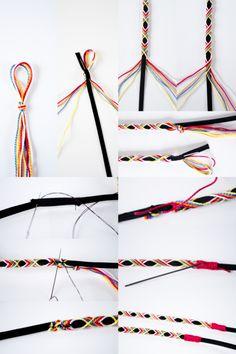 {DIY} My Braided Headband - idée création - Head Wraps Diy Friendship Bracelets Patterns, Diy Bracelets Easy, Bracelet Crafts, Jewelry Crafts, Diy Tresses, Hair Yarn, Head Band, Confection Au Crochet, Hippie Hair