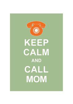 Keep Calm and Call MOM : Mid century Retro Personalized custom Wedding Birthday Anniversary Gift Children Kids Home Decor - BUY 2 Get 1 Free on Etsy, $10.80