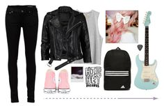 """Emmie// RTD"" by blueelephant115 ❤ liked on Polyvore featuring RVCA, adidas, Converse, VIPARO, Polaroid and Yves Saint Laurent"