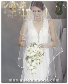 974fad4a4 80 estupendos velos icónicos para bodas que combinan perfectamente con tu  vestido de novia