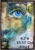 Traplet Publications Ltd Eye into the soul ATC card. Designer: Michelle Webb.kb.