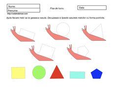Figuri geometrice. Ajuta fiecare melc sa isi gaseasca casuta. Activities For Kids, Chart, Map, Blog, Children, Snail, Geometry, Young Children, Boys