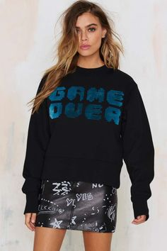 American Retro Technically Difficult Embroidered Sweater