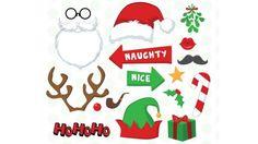 Accesorios divertidos para fotos navideñas: tutorial y descargable - Juntines.com