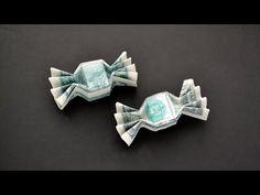 Dollar Oragami, Oragami Money, Dollar Bill Origami, Origami With Money, Origami Candy, Paper Crafts Origami, Origami Boxes, Origami Ball, Creative Money Gifts