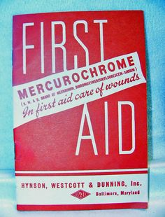 Vintage Mercurochrome First Aid Booklet 1950s - 1