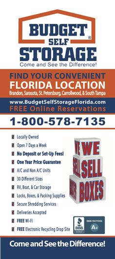 Delicieux Budget Storage, Self Storage, Florida Location, Storage Facilities, At Home  Store, Paddle Boarding, 30 Years, Finding Yourself, Budgeting