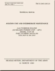 T-62T-2B Technical Manual Aviation Unit and Intermediate Maintenance;   1983; TM 55-2835-205-23