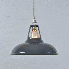 Dark Grey Vintage Industrial Pendant Lamp