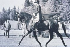 The first woman to win an equestrian Olympic Medal, Lis Hartel won an individual silver medal for dressage in 1952.  She had overcome polio and was still paralyzed from the knees down.
