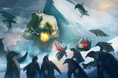 Penguin massacre in the wild.