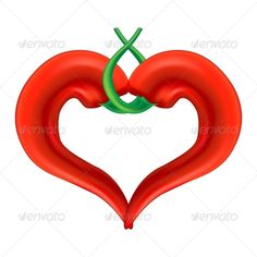 Chili Pepper Heart  #GraphicRiver         Chili Pepper Heart. Passion and Love Symbol. Editable Vector Illustration (EPS) and its Raster Version (JPG).     Created: 30April13 GraphicsFilesIncluded: JPGImage #VectorEPS Layered: No MinimumAdobeCSVersion: CS Tags: StValentine #cafe #chili #concept #day #feelings #form #heart #heart-shaped #hot #icon #isolated #love #lover #menu #paprika #passion #pepper #red #restaurant #romantic #sign #spicy #symbol #template #together #valentine #valentines…