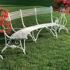 Banc Courbe pieds Griffes Outdoor Furniture, Outdoor Decor, Sun Lounger, Bench, Antiques, Design, Home Decor, Gardens, Wrought Iron Garden Furniture